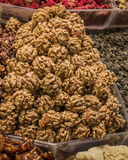 Pile of whole walnuts  without nutshells Royalty Free Stock Image