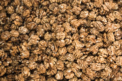 Pile of whole walnuts  without nutshells Stock Photography