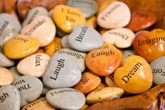 Pile of wish stones Royalty Free Stock Images
