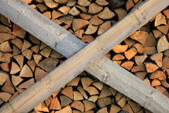 Pile of wood. Pile of chopped fire wood Royalty Free Stock Photography