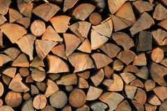 Pile of wood. Pile of chopped fire wood Royalty Free Stock Image