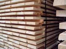Pile of wood. Pile of assembled wood Royalty Free Stock Images