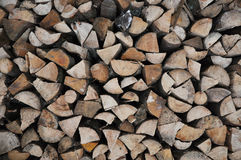 Pile of wood. Pile of chopped wooden logs Royalty Free Stock Images