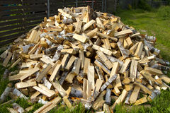 Pile of wood Stock Photography