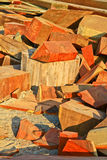 Pile of wood. From wood carving in Sanctuary of truth at Chonburi, Thailand Royalty Free Stock Photography