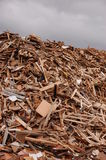 Pile of wood. Wood for combustion in a biomass firing system royalty free stock photos
