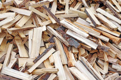 Pile of wood background Stock Photo
