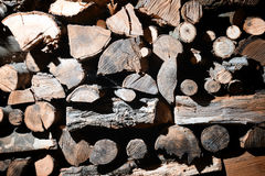 Pile of wood - background Royalty Free Stock Photography