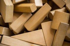Pile of wood block Royalty Free Stock Photo
