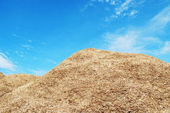 Pile of wood chips Stock Photography
