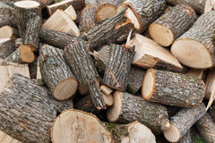 Pile of wood. Pile of chopped fire wood Royalty Free Stock Images