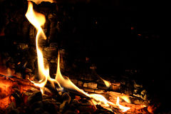 Pile of Wood. Close up from a pile of wood for fire in winter Royalty Free Stock Image