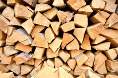 Pile of wood closeup Royalty Free Stock Photography