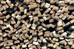 Pile of wood for construction Stock Photo