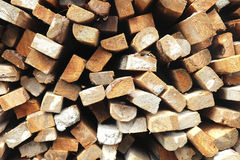 Pile of wood for construction Stock Photography