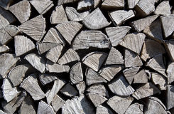 Pile of wood cut for fireplace. Background from the firewood Stock Photo