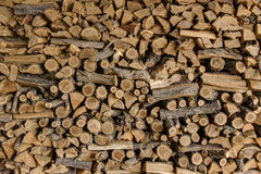 Pile of wood cut for fireplace Royalty Free Stock Image