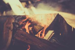 Pile of wood cut for fireplace background Royalty Free Stock Images