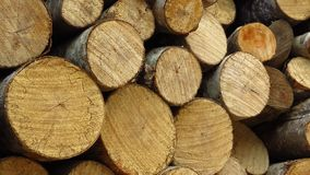 Pile Wood Cut Pieces Firewood. Wood for fireplace heating house. Stacked wood. Winter. Cold weather. Environment. Pile of wood, cut in pieces for firewood. Dry royalty free stock photos