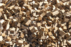 Pile of wood cuttings Royalty Free Stock Image