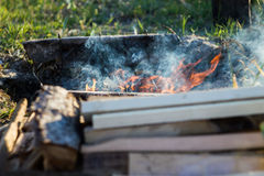 Pile of Wood for fire Royalty Free Stock Images