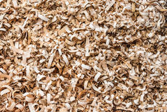 Pile of Wood Flakes Background/ Texture Royalty Free Stock Photos