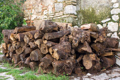 Pile of wood Royalty Free Stock Photography