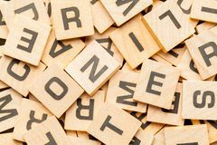 Wood Letter Tiles Stock Photos