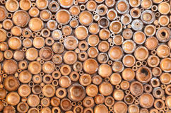 Pile of wood logs. For background Royalty Free Stock Photography