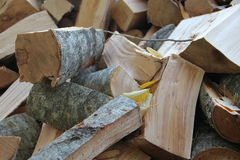 Pile wood logs. Cut wood,logs in a pile Royalty Free Stock Photos
