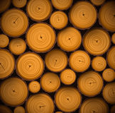 Pile of wood logs. Eps 10 Stock Photo