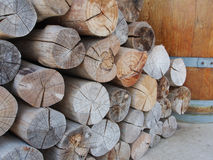 Pile of wood logs, Fire wood stock for background use Stock Photo
