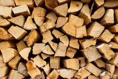 Pile of wood logs ready for winter. Royalty Free Stock Photo