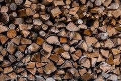 Pile of wood logs storage Royalty Free Stock Photos