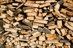 Pile of wood logs Royalty Free Stock Photography