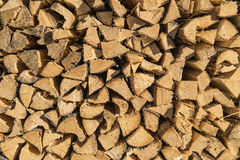 Pile of wood logs Royalty Free Stock Images