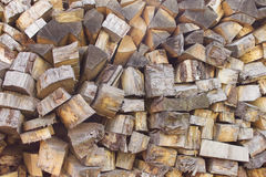 Pile of wood logs. Wood logs texture. Wooden background. Pile of wood close-up. Royalty Free Stock Images