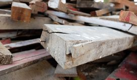 Pile of Wood with Nail Soft Focus Stock Images