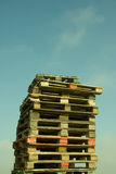 Pile of Wood Pallets Stock Photography
