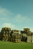Pile of Wood Pallets Stock Images