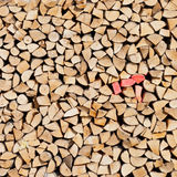 Pile of wood. Pieces of cut wood on a stack Stock Image