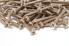 Pile of Wood Screws Stock Images