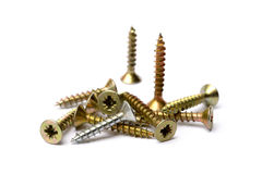 Pile of wood screws Royalty Free Stock Photography