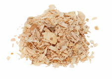 Pile wood shavings background Stock Photo