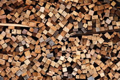 Pile of wood, stack of wood Royalty Free Stock Photo