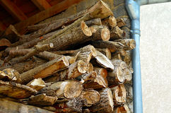 Pile of wood in the stock royalty free stock photo