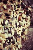 Pile of wood stored Royalty Free Stock Images