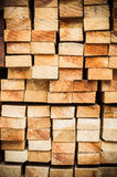Pile of Wood Stored in stock Royalty Free Stock Images