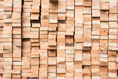 Pile of Wood Stored in stock Royalty Free Stock Photography