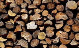 Pile of wood Stock Image